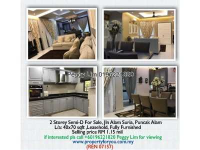 2 Storey Semi Detached, Jalan Alam Suria, Puncak Alam