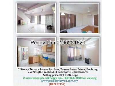 2 Storey End Lot Terrace House for Sale, Taman Putra Prima, Puchong